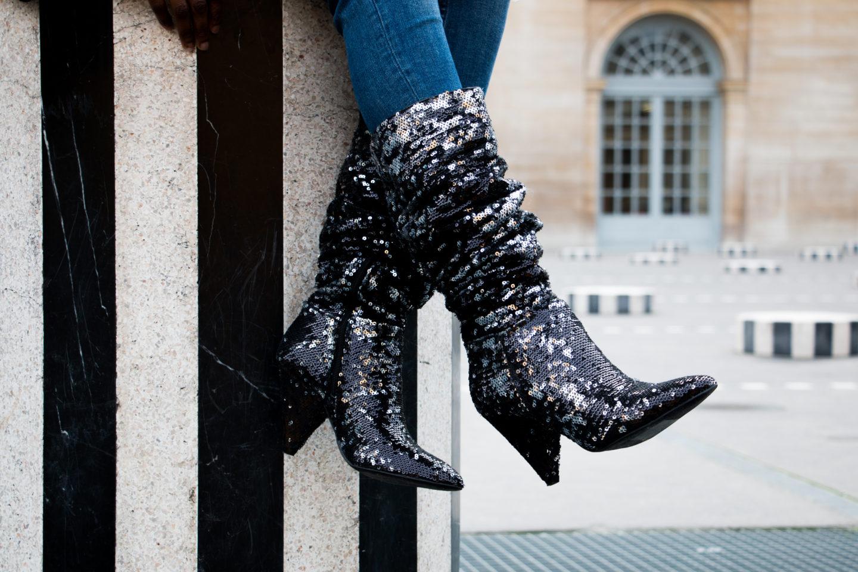 Comment (re) porter ses bottes à paillettes?