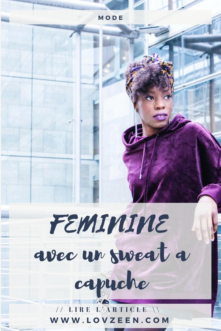 FEMININE AVEC UN SWEAT A CAPUCHE