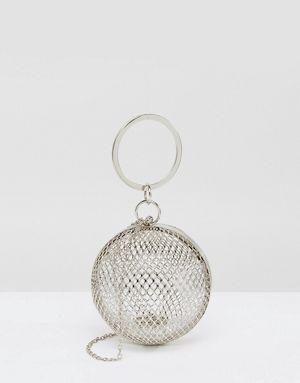 Pochette effet cage en forme de sphère