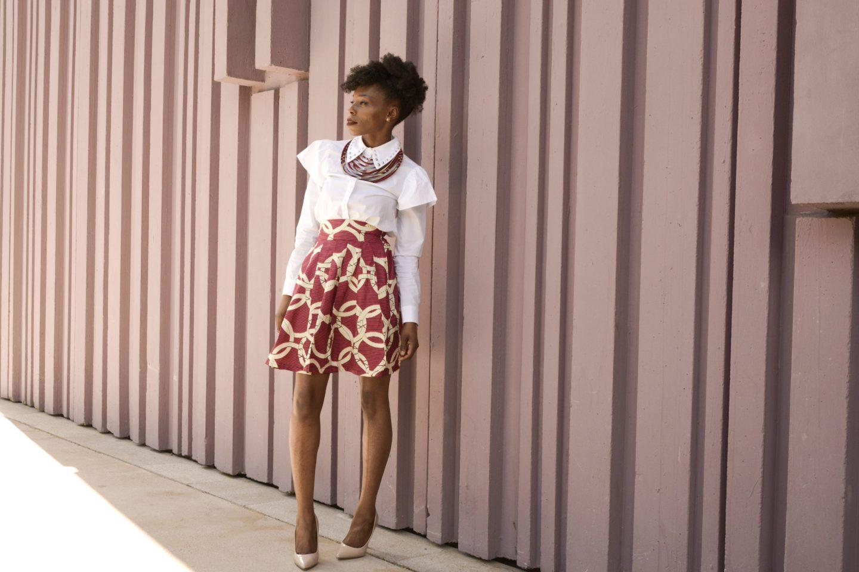 lovzen jupe en wax femme afro