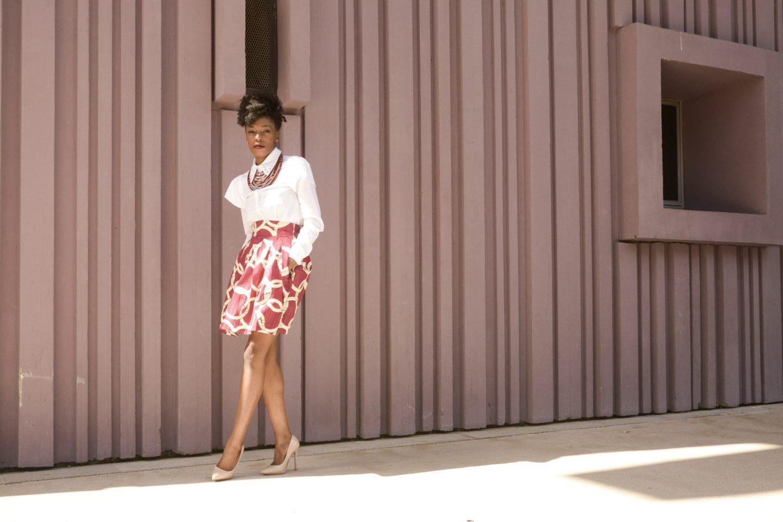 femme afro en wax