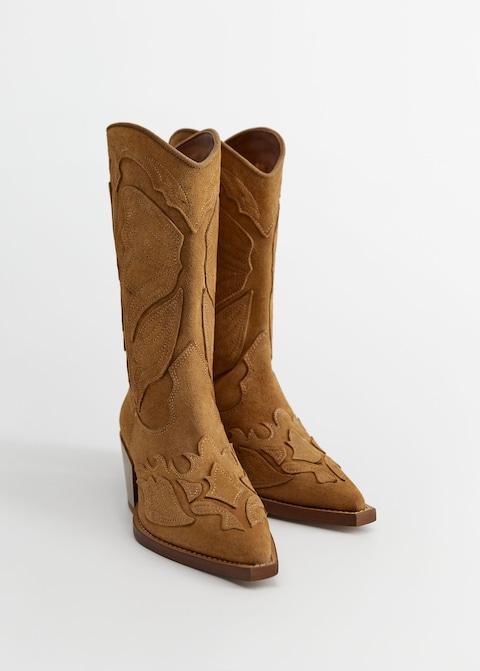 Bottes cowboy cuir