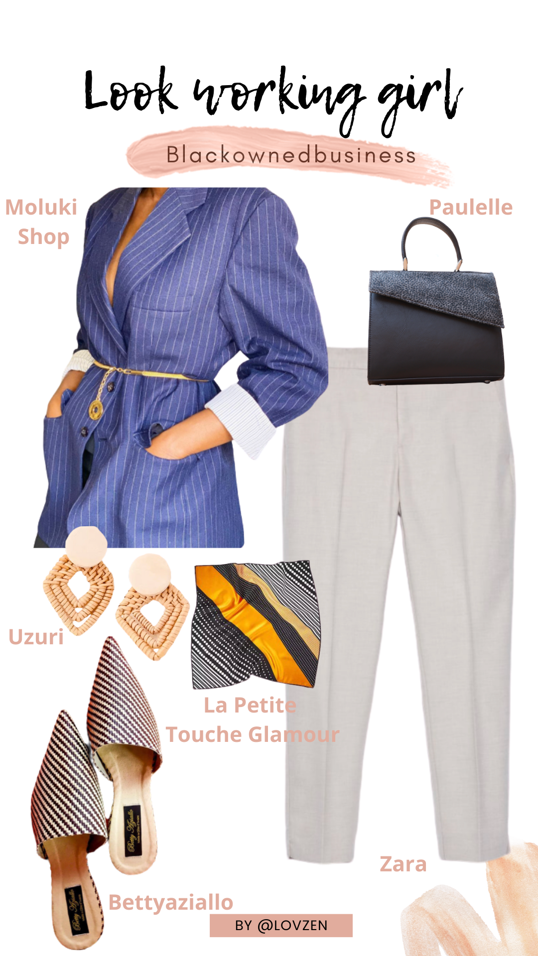 moodboard inspiration look détails style working girl afro glamour