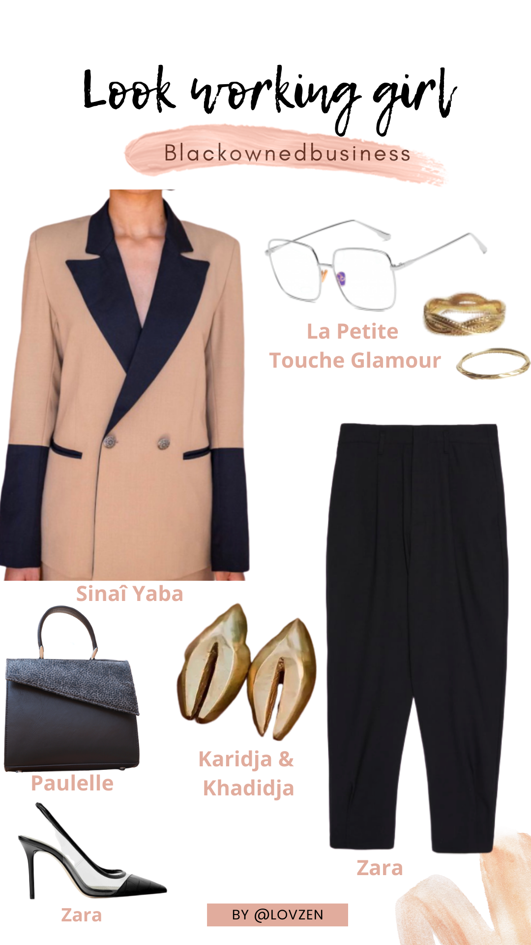 moodboard inspiration look détails style working girl style afro classique