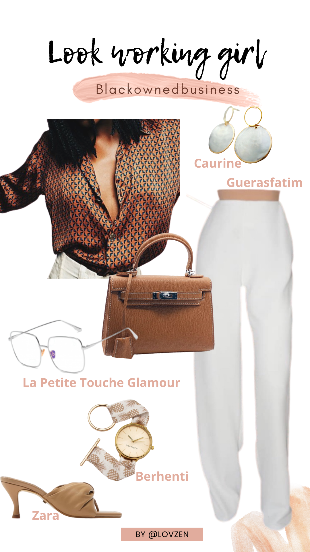 moodboard inspiration look détails style working girl style afro flamboyante