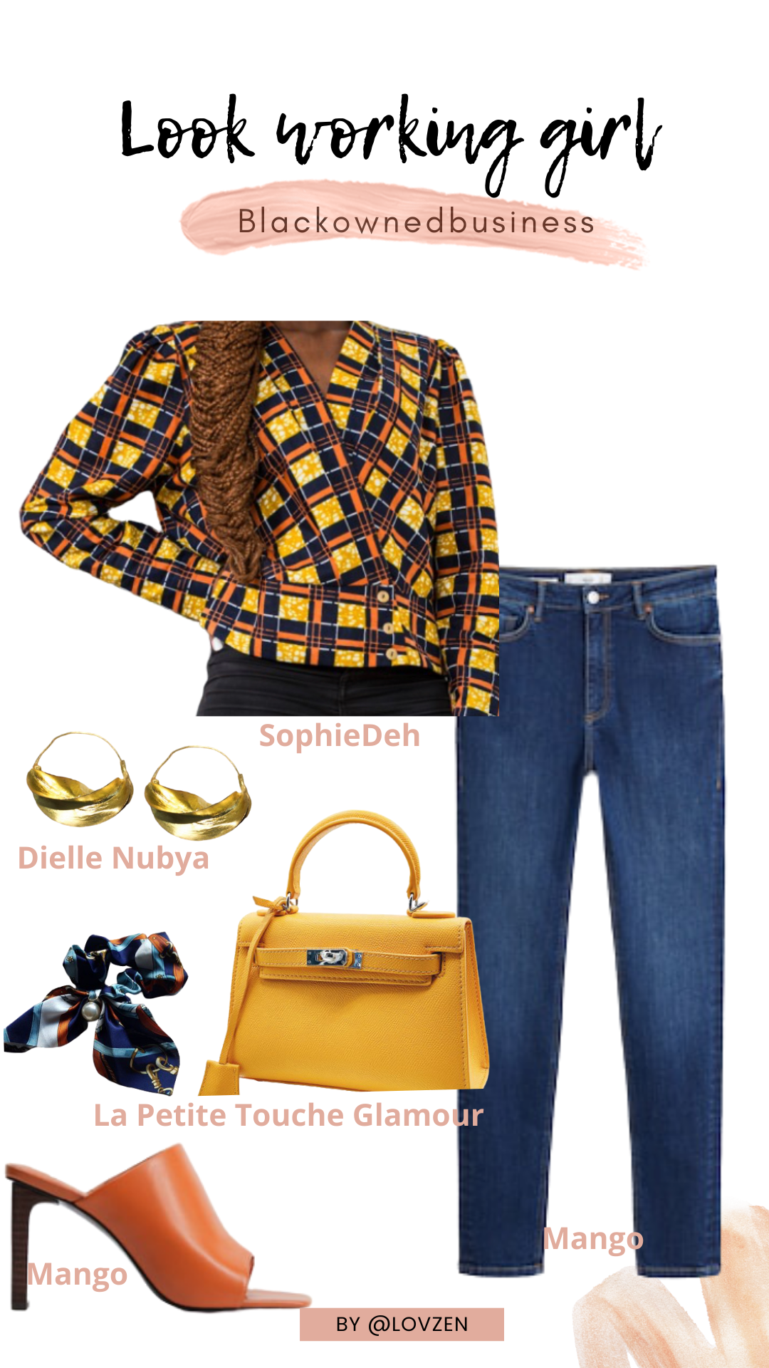 moodboard inspiration look détails style working girl style afro casual