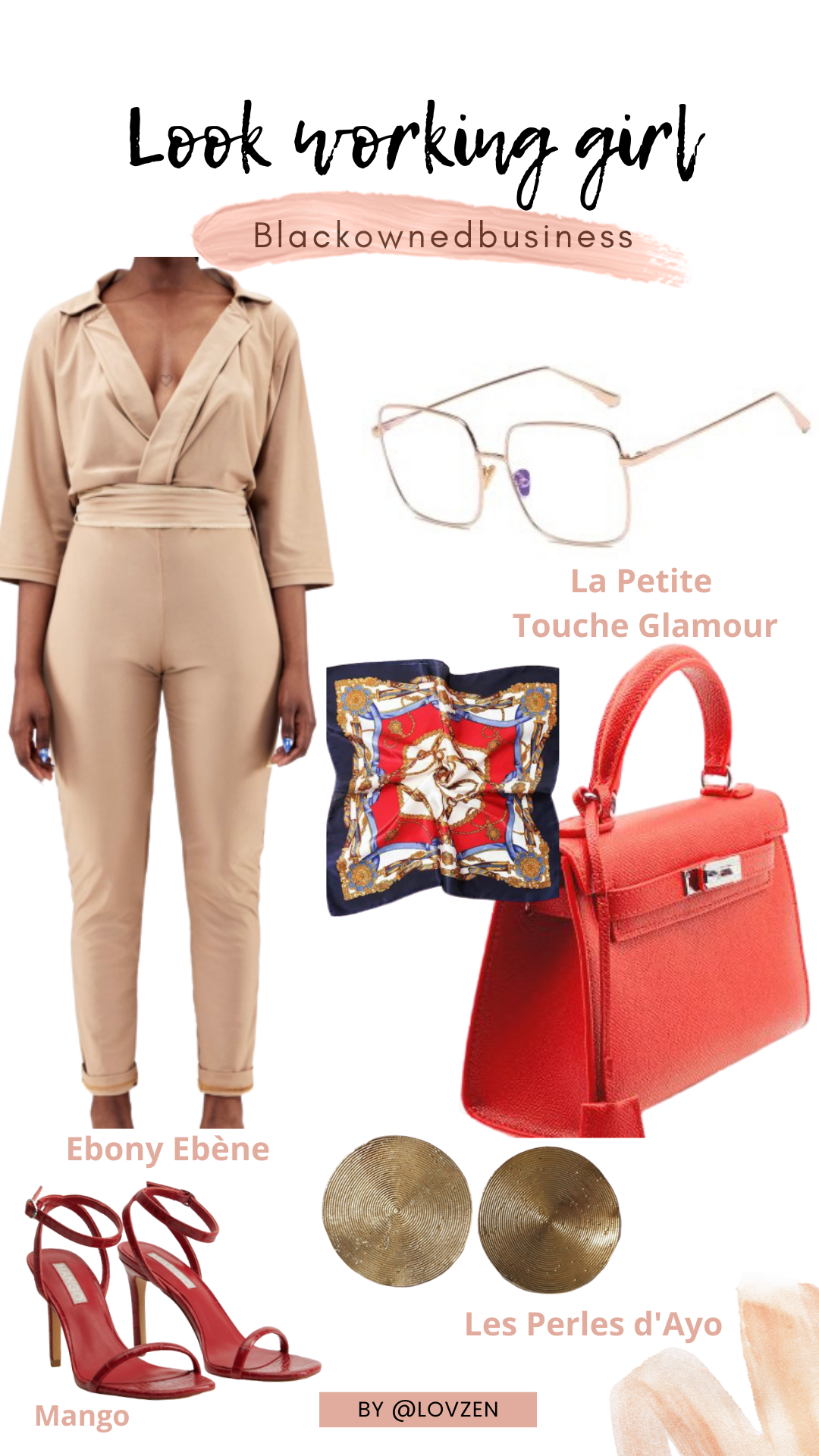 moodboard inspiration look détails working girl afro chic