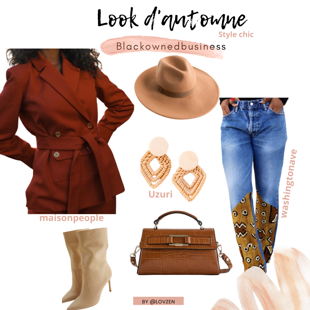 look d'automne afro chic