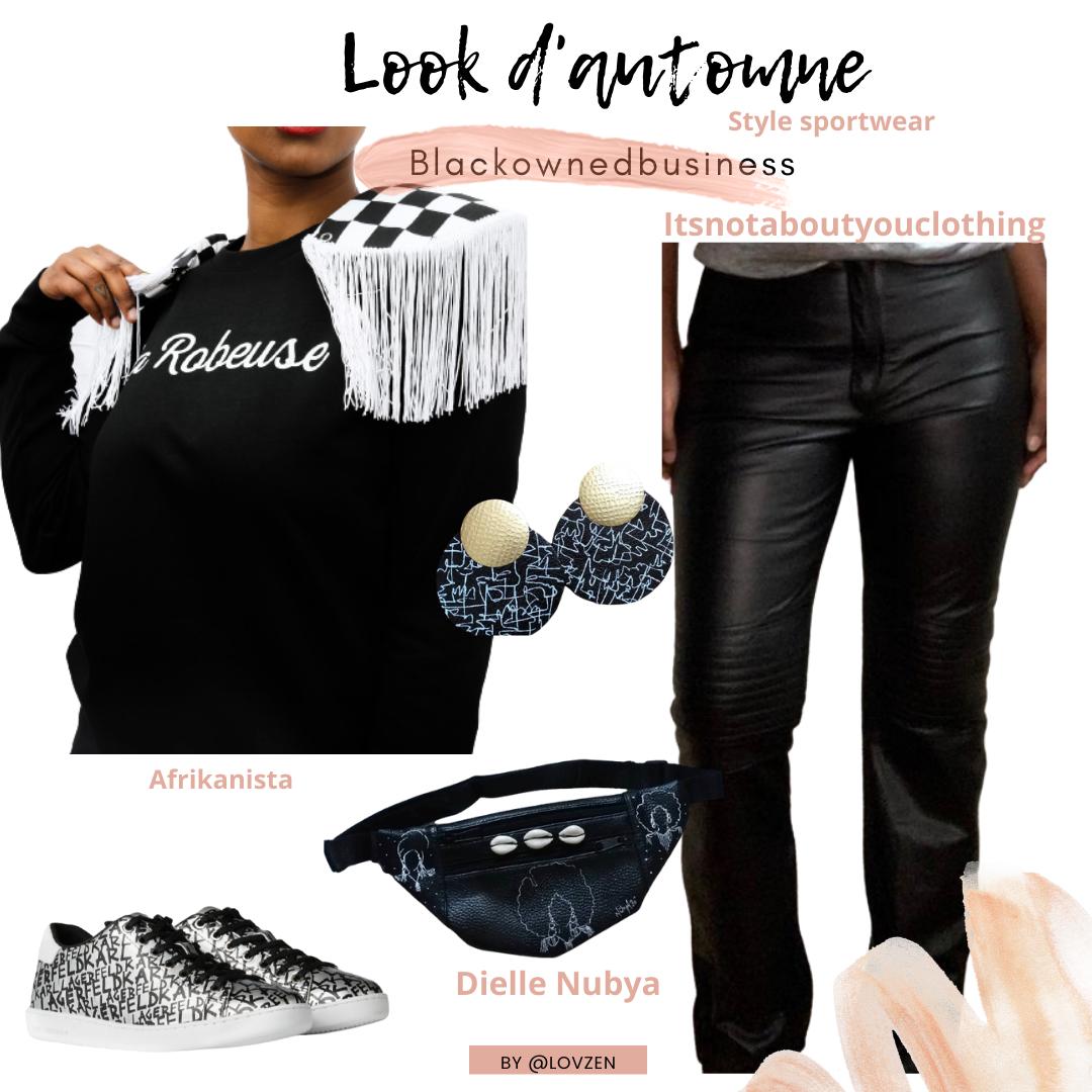 look d'automne afro sportwear