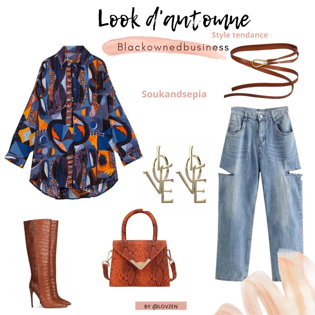 look d'automne afro tendance